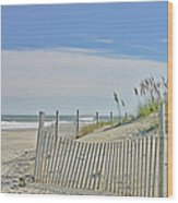 Beach At Outer Banks Wood Print