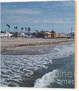 Beach At Santa Cruz Wood Print
