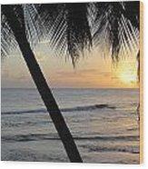 Beach At Sunset 2 Wood Print