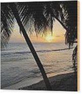 Beach At Sunset 4 Wood Print