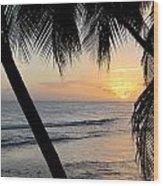 Beach At Sunset 5 Wood Print