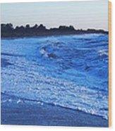 Beach Back Wash Wood Print