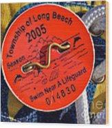 Beach Badge 2005 Wood Print