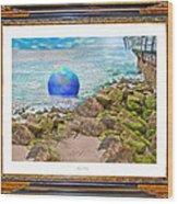 Beach Ball Dreamland Wood Print