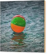 Beach Ball Float Wood Print
