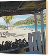 Beach Bar In January Wood Print