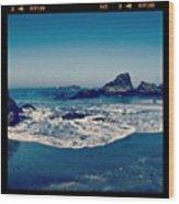 #beach #beautiful #water #waves #nature Wood Print