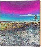 Beach Blindness Wood Print by Annette Allman