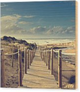 Beach Boardwalk Wood Print