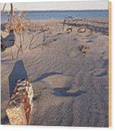 Beach Brick Wood Print