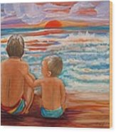 Beach Buddies II Wood Print