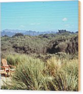 Beach Chairs With A View Wood Print