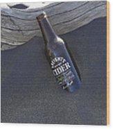 Beach Cider Wood Print by David Yack
