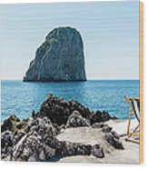 Beach Club La Fontanella, Capri Wood Print