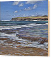 Beach Colors Wood Print
