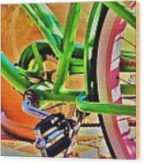 Beach Cruiser Wood Print