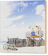 Beach Cruiser Wood Print