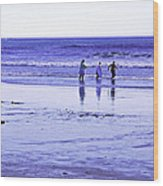 Beach Day Afternoon Wood Print