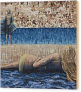 Beach Day Wood Print by Ned Shuchter