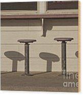 Beach Diner Stools Wood Print