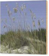 Beach Dune Pixelated Wood Print