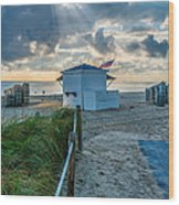 Beach Entrance To Old Glory Wood Print