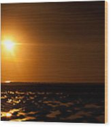 Beach From Low Angle Wood Print