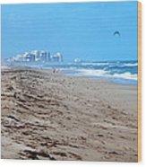 Beach Front 002 Wood Print