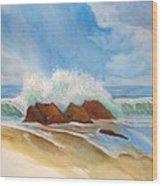 Beach Front Wood Print