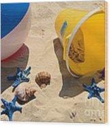 Beach Fun Wood Print