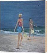 Beach Games Wood Print