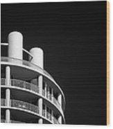 Beach Hotel Wood Print