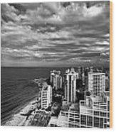 Beach Hotels San Juan Puerto Rico Wood Print by Amy Cicconi
