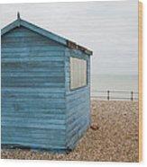 Beach Hut At Kingsdown Wood Print