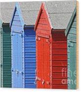 Beach Huts 3 Wood Print