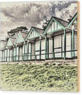 Beach Huts 4 Wood Print