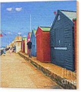 Beach Huts At Cromer Wood Print