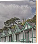 Beach Huts Langland Bay Swansea 3 Wood Print