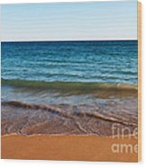 Beach In Algarve Wood Print