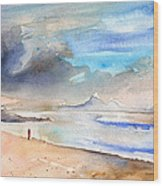 Beach In Lanzarote Wood Print