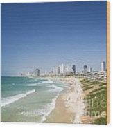 Beach In Tel Aviv Israel Wood Print