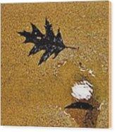 Beach Leafs Wood Print