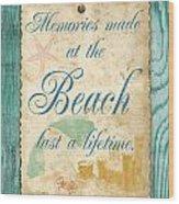Beach Notes-a Wood Print