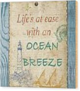 Beach Notes-c Wood Print