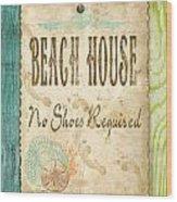Beach Notes-d Wood Print