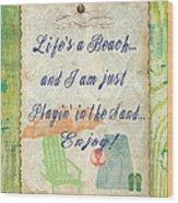 Beach Notes-e Wood Print