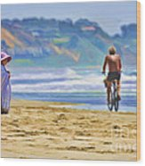 Beach Of Life Large Crop Wood Print