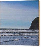 Beach On The Oregon Coast Wood Print
