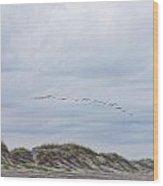 Beach Painting 3 Wood Print
