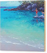 Beach Painting - A Day To Remember Wood Print